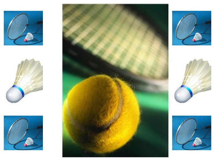 tennis badminton collage